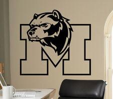 Wall Decal Michigan Wolverines College Football Logo NCAA Vinyl Sticker (23nc)