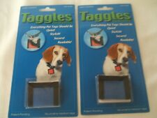 Taggles Dog Tag Protector for Small to Medium tags  LOT OF 2