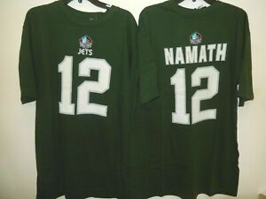 MENS New York Jets JOE NAMATH Hall Of Fame Football Jersey SHIRT New