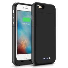 For iPhone 6/6s Battery Case 3800mAh Ultra Slim Extended Batery Backup Black