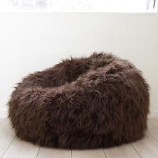 LARGE SHAGGY FUR BEAN BAG Cover Chocolate Brown Cloud Chair Beanbag Lounge Home