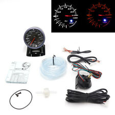 "2.5"" Race Car Turbo Boost Gauge Analog 3 BAR White+Amber LED Warning Monitor Kit"