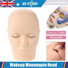 Flat Mannequin Training Head Make Up Face Closed Eyes Practice Eyelash Extension