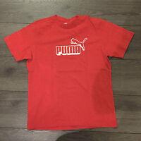 Sport-Shirt / T-Shirt PUMA Gr. 164, rot mit weißem Puma-Print, w.NEU