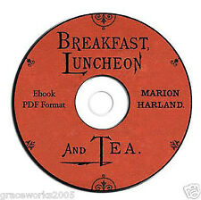 Vintage Victorian Recipe/Cookbook-Marion Harland-CD eBook PDF-English Tea-Candy
