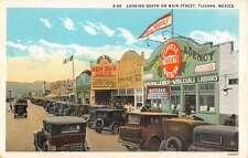Tiajuana Mexico Main Street Scene Store Fronts Antique Postcard K17246