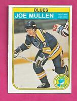 1982-83 OPC # 307 BLUES JOE MULLEN  ROOKIE EX-MT CARD (INV# C3312)