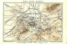 1898 = ATENE ANTICA = Antica Mappa Storica = OLD MAP