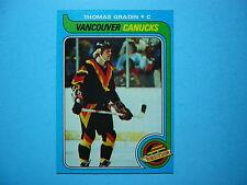 1979/80 TOPPS NHL HOCKEY CARD #53 THOMAS GRADIN ROOKIE NM SHARP!! 79/80 TOPPS