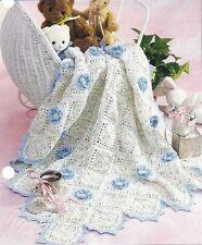 CROCHET Pattern BABY  Blanket Rug Throw Flower Motif