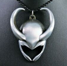 Marvel Alloy Loki Thor Helmet Pendant Chain w/Free Jewelry Box and Shipping