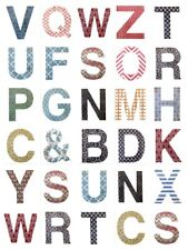 Large Retro Wooden Wall Chic Letters Alphabet Names Initials Mr Mrs Love Family