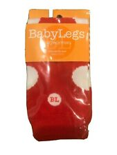 Babylegs Leg Warmers NWT Dot Red White