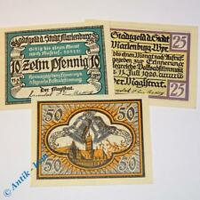 3 x Notgeld Marienburg , german emergency money , M/G 870.1 , 3 x in kfr/unc