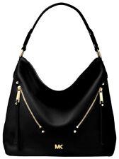 Michael Kors Bag Evie LG Hobo Leather Black New 30t8gzuh7l
