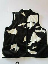 Black & White Camouflage Fleece Gilet Bodywarmer Quality Tailored Jacket Large