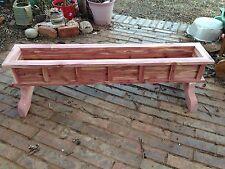 "New 48"" Cedar Wood Planter, Spring Is Coming Flower Box, By J & S Cedar"