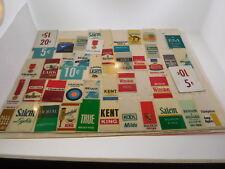 39 + Small Plastic Tags Cigarette Vending Machine VINTAGE Price Point Labels