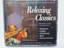 RELAXING CLASSICS ~ 4-CD SET ~ 4 HOURS OF CLASSICAL MUSIC ~ NEW SEALED CD