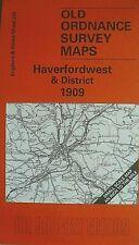 Old OS Maps Haverfordwest Pembroke Dock  Saundersfoot West Williamston 1909 New