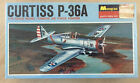 Monogram Curtiss P-36A or P-36C 1/72 Scale Vintage 1967 Plastic Model Sealed photo