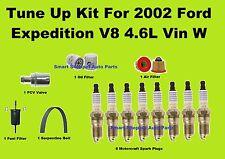 Tune Up Kit For 2002 Ford Expedition V8 Spark Plug Air Oil Fuel filter belt, PCV