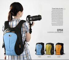 Blue Caseman packsack Camera Bag Backpack  FOR Canon Nikon Sony Olympus fuji
