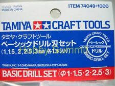 Tamiya Craft Tools  BASIC DRILL BIT Set  re  1/350 1/700 1/35 1/24 1/12  # 74049