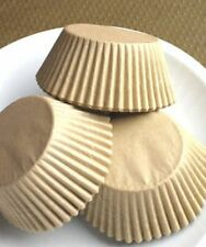 375 Unbleached JUMBO LARGE Cupcake MUFFIN Liners Baking Cups NATURAL Wrappers