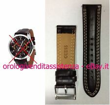 CINTURINO GUESS ORIGINALE IN PELLE MARRONE W9504652 ANSA DRITTA LARGO 24 mm