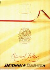 PUBLICITE ADVERTISING 086  1987  Cigarettes Benson & Hedges   special filter