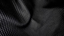 tissu enduit facon skai simili cuir capitonné col noir mini carreaux 50x140 cm
