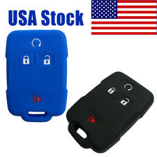 2Pcs Key Fob Cover Case Skin for GMC Canyon Sierra Chevrolet Silverado Colorado