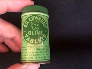 Vintage DR EDWARDS Olive Tablets Tin Columbus Ohio