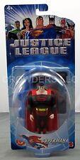 "DC Justice League Animated Series 4.75"" Dark Suit Superman Figure Mattel NIB '03"