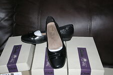 New Clarks Womens Candra Glare Black Leather Flat Ballet Loafer Shoes SIZE 5.5