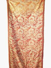 """1920's Fortuny Hanging Fragment in his """"Melagrana"""" Pattern with Tulips"""