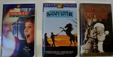 Lot of 3 Walt Disney Miracle on 34th Street(2) & The man from snowy river VHS