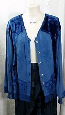 Blue's Patchwork & Embroidery Hippie BoHo Jacket Size M/L by Chic Soul