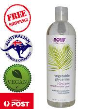 Now Foods - 100% Pure Vegetable Glycerine - 473ml - Vegan Moisturiser Cleanser