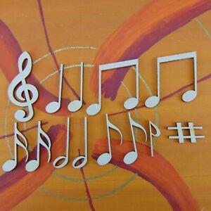 Notenset für Musiker 13 Teile, 42mm hoch aus Holz, Geschenk Deko Wanddeko 4213