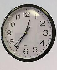 "Black Quartz ""No tick"" silent Wall Clock- perfect as a kitchen clock or office"