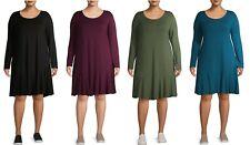 Terra & Sky Women's Plus Size Knit Peplum Dress