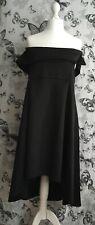 Size 14 Boohoo Maternity Black Bardot Dress