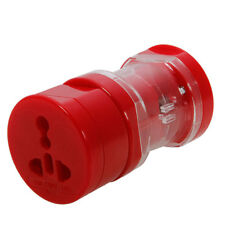 10X Red Universal US/UK/EU 3 Part Travel Power Adapter Converter Plug Whole