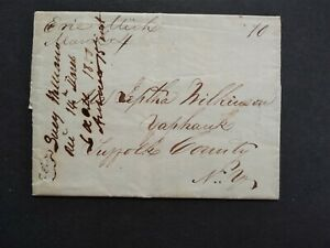 Michigan: Erie 1850 Stampless Cover, Ms, DPO Monroe Co to Yaphank, NY