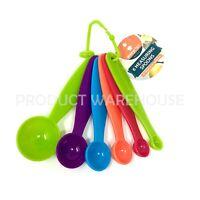 6pc Plastic Measuring Spoons Set Colorful Kitchen Utensil Cooking Baking Measure
