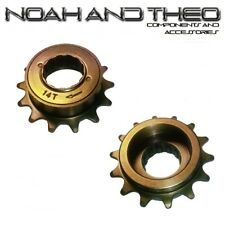 "N&T 14T 34mm 1/2"" x 1/8"" Brown BMX Freewheel Bicycle Single Speed Cog Sprocket"