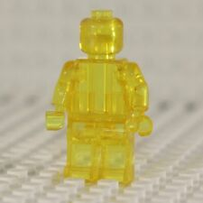 NEW Blank Transparent Yellow Minifigure Compatible with Lego
