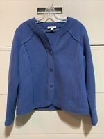 Pendleton Short Coat Size Large Merino Wool Big Button Blazer Jacket Blue